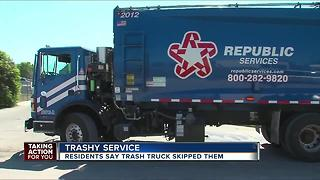 Residents upset over trashy service