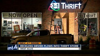 Reckless driver plows into West Allis thrift store