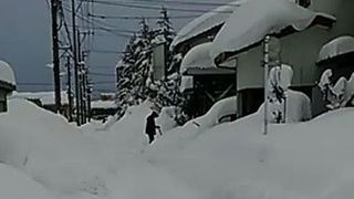 Fukui Prefecture Covered Under Masses of Snow - Video