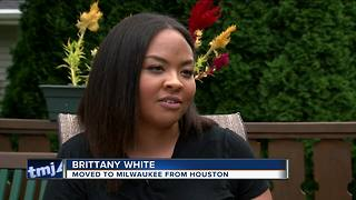Houston transplant moves to Milwaukee just ahead of Harvey - Video