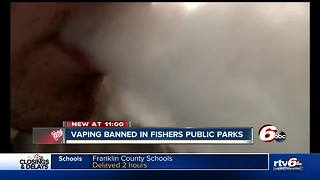 Fishers City Council votes to ban vaping & chewing tobacco on public property - Video