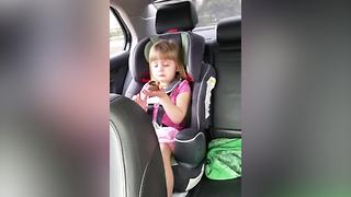 Funny Tot Girl Regrets Eating Chocolate Bunny's Face - Video