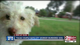 Tulsa couple says city worker murdered their dog - Video