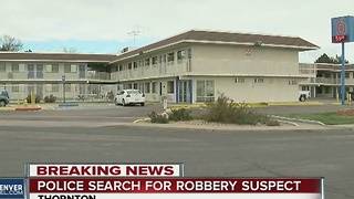 Police call off search for robbery suspect in Thornton - Video