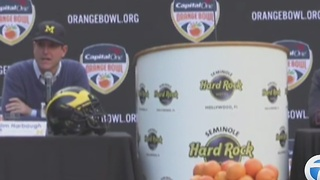 Ahead of Orange Bowl, Jim Harbaugh recalls story of seeking coconut with brother John - Video