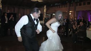 Father & daughter wedding dance takes surprising turn - Video