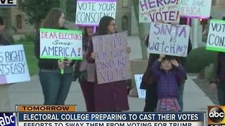 Electoral college casting vote tomorrow