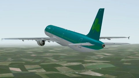 Airbus A320 Aer Lingus flight with auto land (auto approach) Infinite Flight