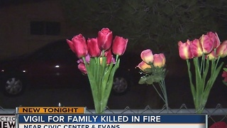 Candles, flowers for North Las Vegas fire victims - Video