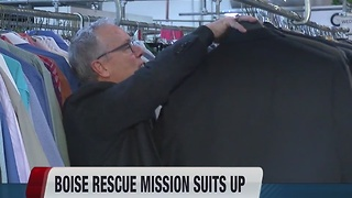 Clothesline Cleaners customers donate 600 suits to Boise Rescue Mission - Video