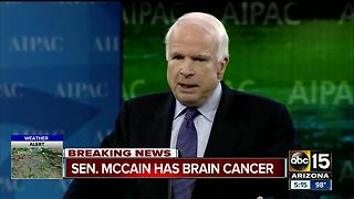 BREAKING: John McCain diagnosed with brain cancer - Video