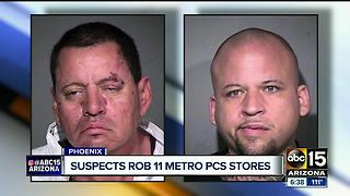 Suspects accused of robbing 11 stores in Phoenix - Video