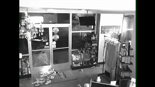 Man captured breaking into Envy Salon in Northwest Bakersfield - Video