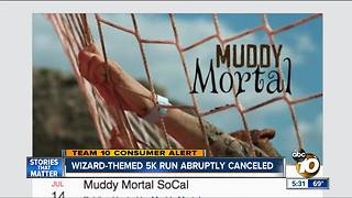 Wizard-themed 5K abruptly canceled - Video