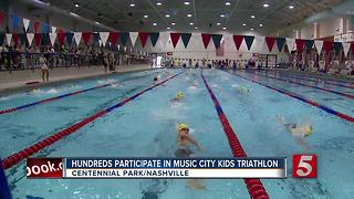 Hundreds Participate In Music City Kids Triathlon - Video