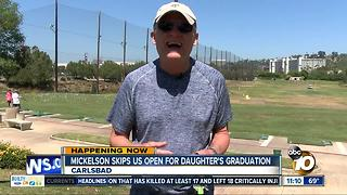 Mickelson skips US Open for daughter's graduation - Video