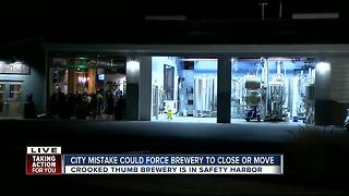 City mistake could force brewery to close or move - Video