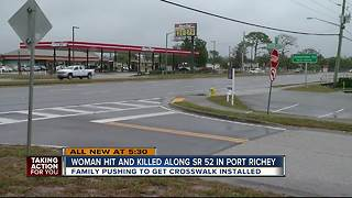 Family pushing for crosswalk after daughter dies crossing SR-52