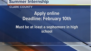 Clark County summer business intern program taking applicants - Video