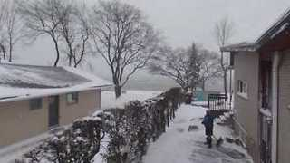 Drone Video Captures Deep Snow, Strong Winds in Ontario - Video