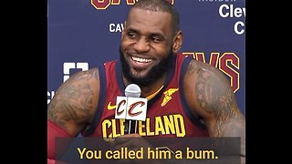 LeBron James defends calling Trump a 'bum' - Video