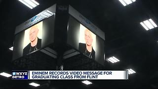 Eminem records video message for Flint graduates - Video