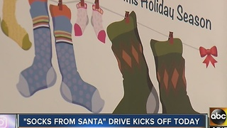 'Socks from Santa' drive kicks off today - Video