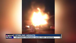 Sterling Heights homes damaged by fire triggered by fireworks - Video