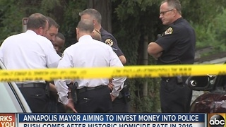 Annapolis mayor plans to invest in the city's police department - Video