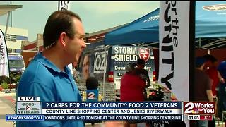 2 Works for You hosts Food 2 Veterans Food Drive - Video