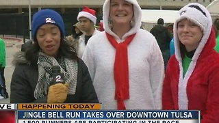 Tulsa's Jinge Bell Run brings the Christmas spirit downtown - Video