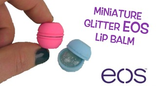 DIY miniature EOS lip balm with glitter - Video