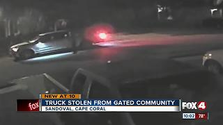 Man's truck stolen from driveway in gated community - Video