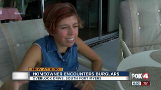 Fort Myers woman comes face to face with brazen burglars - Video