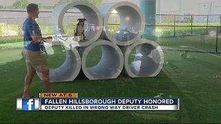 Dog park for fallen deputy - Video