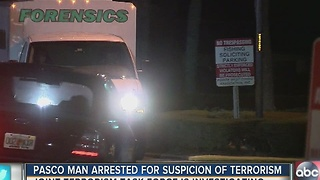 Pasco man arrested for suspicion of terrorism - Video