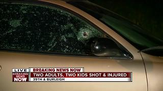 2 kids and 2 adults shot in Sherman Park neighborhood - Video