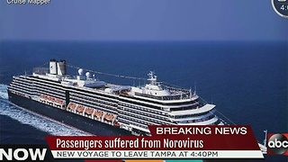 Passengers suffered from Norovirus - Video