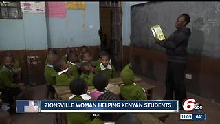 Zionsville Woman takes educational resources to Kenya - Video