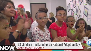 23 children find families on National Adoption Day - Video