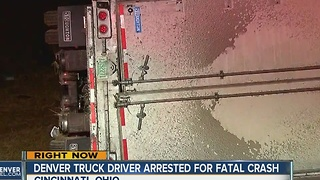 Denver truck driver arrested for fatal crash - Video