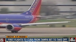 First flight from Tampa to Cuba