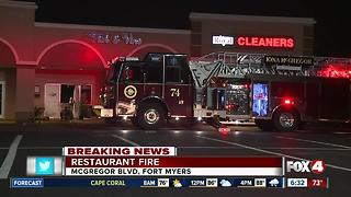 Lit cigarette likely cause of Fort Myers restaurant fire - Video