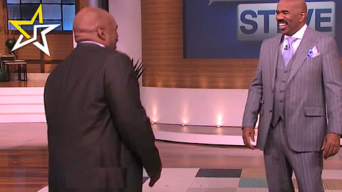 "Steve Harvey Meets ""Himself"" During A Hilarious Segment Of His Talk Show"