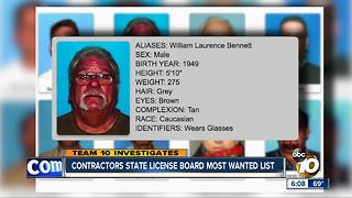 Contractors State License Board most wanted list - Video