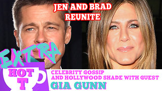 Jennifer Aniston & Brad Pitt Secretly Unite: Extra Hot T - Video