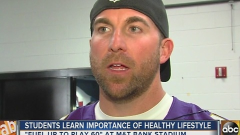 Baltimore Ravens help students get healthy