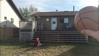 Dad Accidentally Fires Basketball at Baby's Head - Video