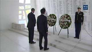 Japanese PM Makes Historic Visit to Pearl Harbor Memorial - Video