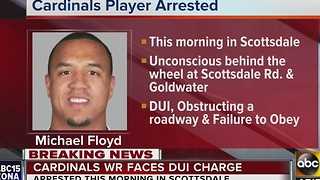 Arizona Cardinals receiver Michael Floyd arrested for DUI in Scottsdale Monday morning - Video